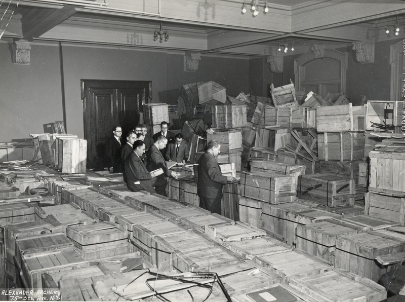 Arrival in New York of Looted YIVO Materials