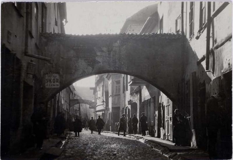 Street in the Jewish quarter, Vilna
