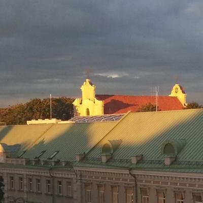 View of St. George Church in Vilnius from Gediminas Prospekt