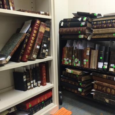 Books Awaiting Digitization at YIVO in New York